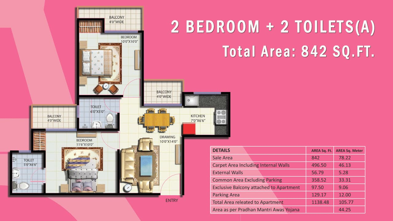 French Apartments|Noida Extension|Greater Noida West